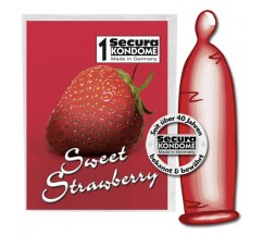 SWEET STRAWBERRY CONDOMS 1 UNIT