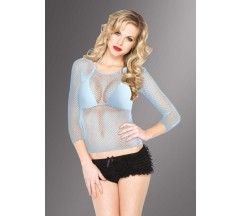 FISHNET SHIRT WITH SLEEVES BLUE
