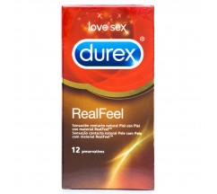REAL FEEL DUREX CONDOMS 12 UNITS